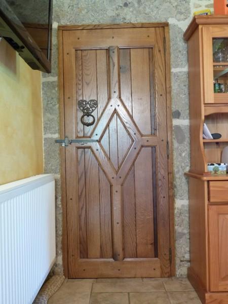 porte de communication bois massif réplique d'ancinne