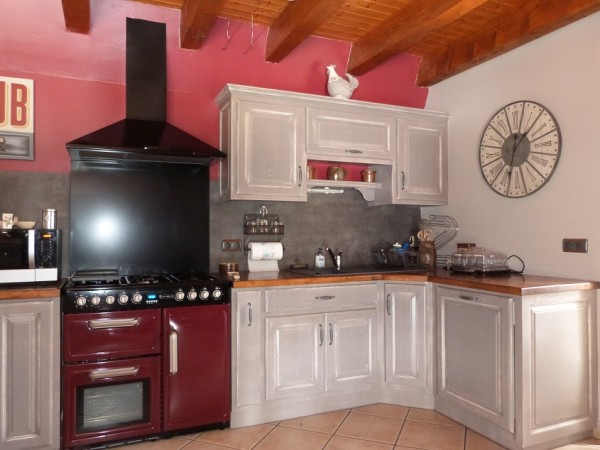 cuisine bois massif peinte