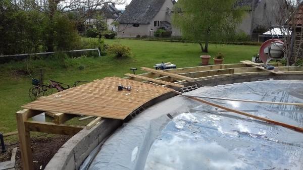 construction d'un terrasse de piscine