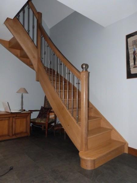 Escaliers bois métal
