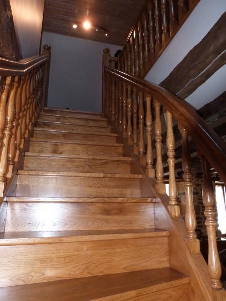escalier traditionnel chêne massif
