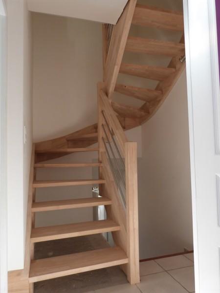 Escaliers bois métal sans contre marche